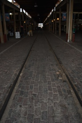 Tracks into the station